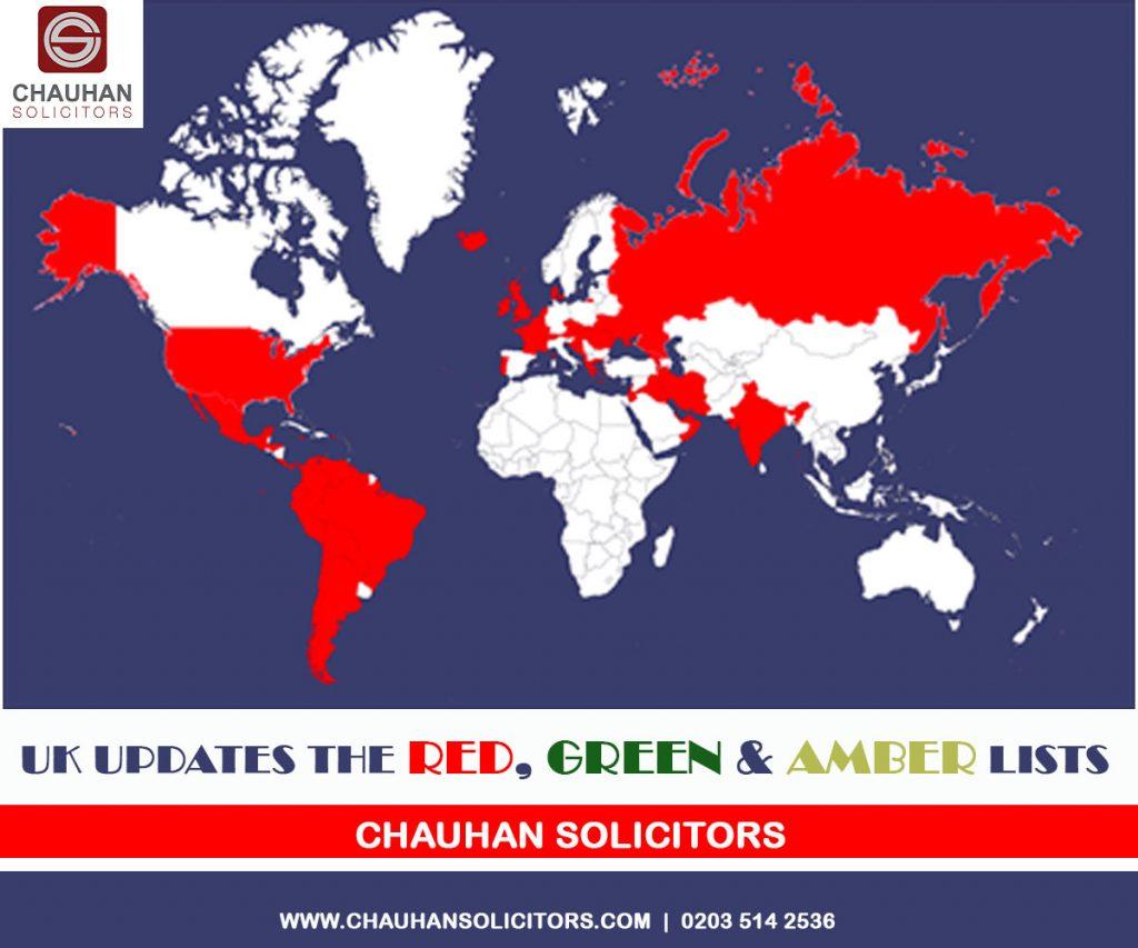 UK Updates Red Green & Amber List